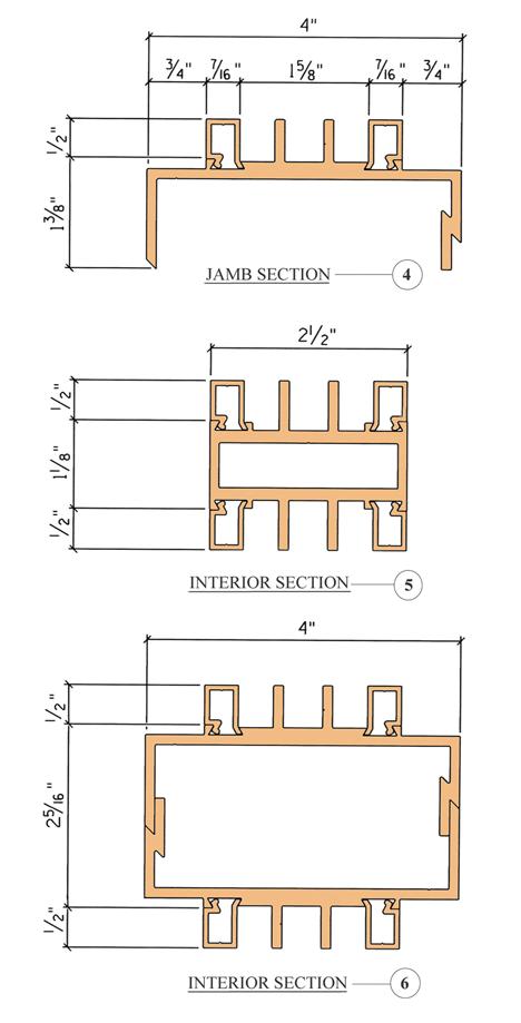 Aluminum Frames - 4in - Cross-Section