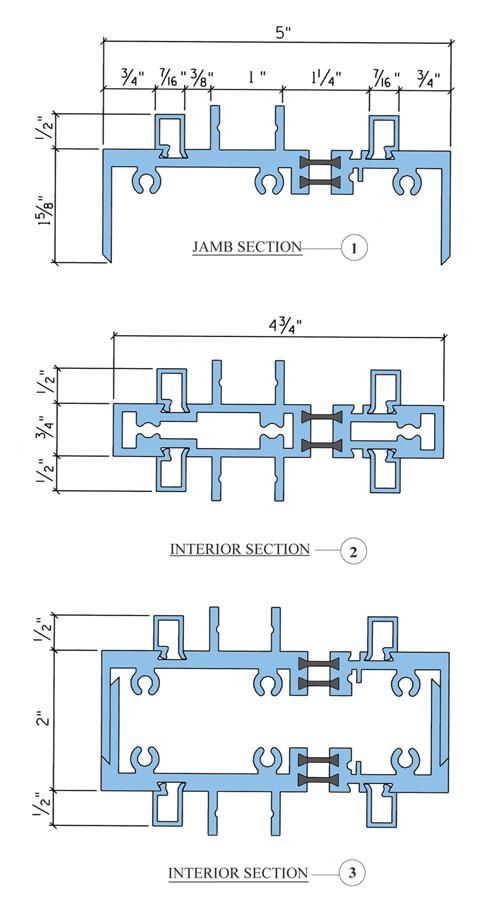 Aluminum Frames – 5in – Cross-Section